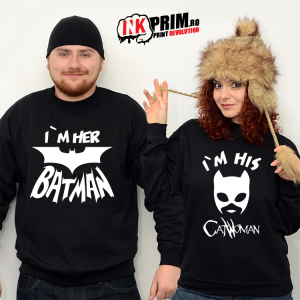 Set Sweatshirt Cuplu - Batman & Catwoman