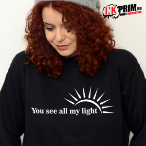 Set Sweatshirt Cuplu - You Love All My Dark & You See All My Light