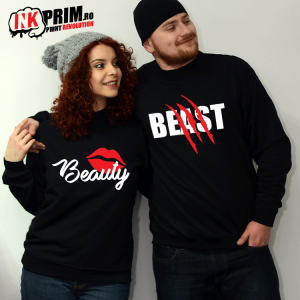 Set Sweatshirt Cuplu - Beast & Beauty
