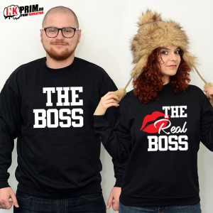 Set Sweatshirt Cuplu - The Boss & The Real Boss