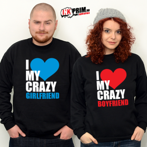 Set Sweatshirt Cuplu - Crazy Love