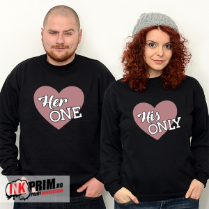 Set Sweatshirt Cuplu - Her One & His Only