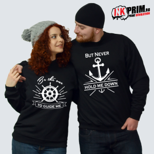 Set Sweatshirt Cuplu - Be The One To Guide Me, But Never Hold Me Down