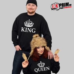 Set Sweatshirt Cuplu - King & Queen
