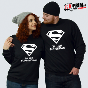 Set Sweatshirt Cuplu - Superman & Superwoman