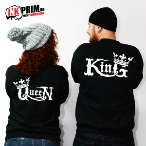 Set Sweatshirt Cuplu - Medieval King & Queen