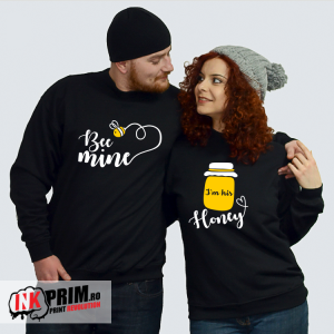 Set Sweatshirt Cuplu - Bee mine