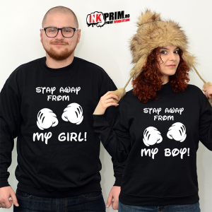 Sweatshirt Cuplu - Stay Away From My Boy / Girl