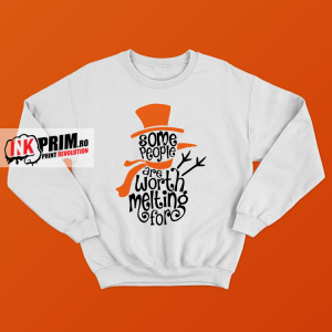 Set Sweatshirt Cuplu - Some People Are Worth Melting For & I`m Melting For You