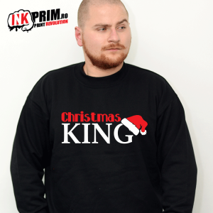 Set Sweatshirt Cupluri - Christmas King & Christmas Queen