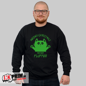 Sweatshirt de Crăciun - Meowy Christmas, Mother Fluffer