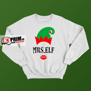 Set Sweatshirt Cuplu - Mr. & Mrs. Elf