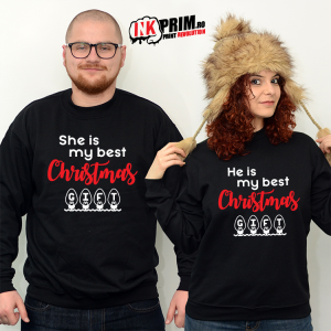 Set Sweatshirt Cuplu - My Best Christmas Gift