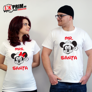 Set Tricouri Cuplu - Mr & Mrs Santa