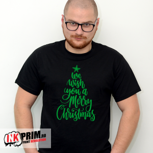 Tricou de Crăciun - We wish you a Merry Christmas