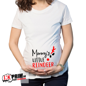 Tricou gravidă - Mommy's little reindeer