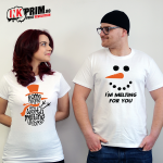 Set Tricouri Cuplu - Some People Are Worth Melting For & I`m Melting For You