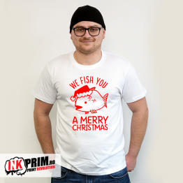 Tricou de Crăciun - We Fish You a Merry Christmas