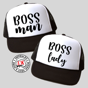 Set Șepci Cuplu - Boss Man & Boss Lady