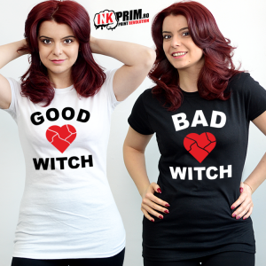 Set tricouri personalizate BFF - Good Witch & Bad Witch