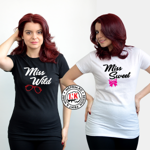 Set Tricouri Miss Wild & Miss Sweet