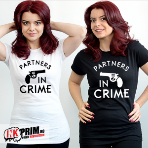 Set tricouri personalizate BFF - Partners in Crime