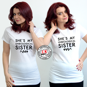 Set tricouri personalizate BFF - Unbiological Sister