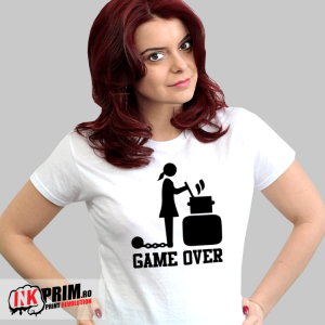 Tricou burlacițe - Game Over ( la cratiță)
