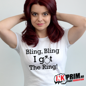 Tricou Mireasă - Bling, Bling I Got The Ring!