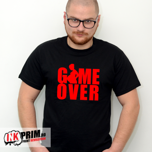 Tricou - Game Over (viitor tătic)