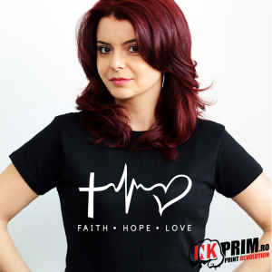 Tricou Personalizat, Faith, Hope, Love