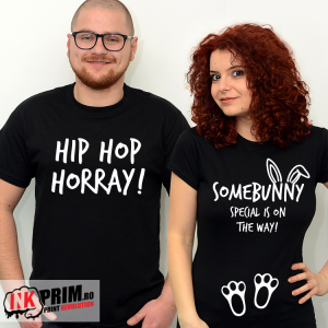 Set Tricouri Viitori Părinți - Hip Hop Horray! Somebunny special is on the way!