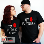 Set tricouri personalizate - My heart is yours & My heart belongs to you