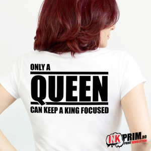 Set Tricouri Cuplu, Only a King Can Attract a Queen & Only a Queen Can Keep a King Focused
