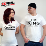 Set Tricouri Cuplu, The King & His Queen
