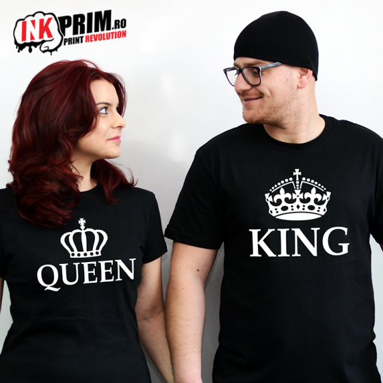 Set Tricouri Cuplu, King & Queen