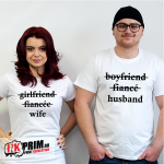 Set tricouri personalizate cuplu - Husband & Wife