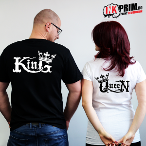 Set tricouri personalizate cuplu - Medieval King & Queen