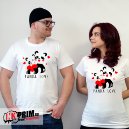 Set Tricouri Cuplu - Panda love
