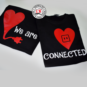 Set tricouri personalizate cuplu - We are CONNECTED