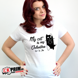 Tricou Personalizat, My cat is my Valentine